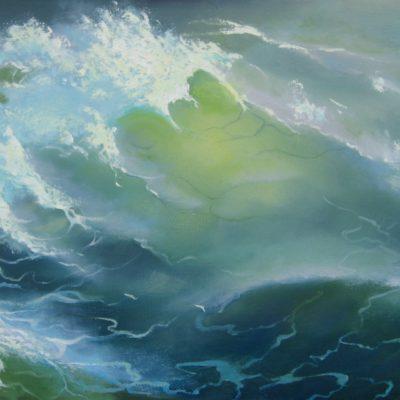 «Волна», холст, масло 56х36 см, (учебная работа)
