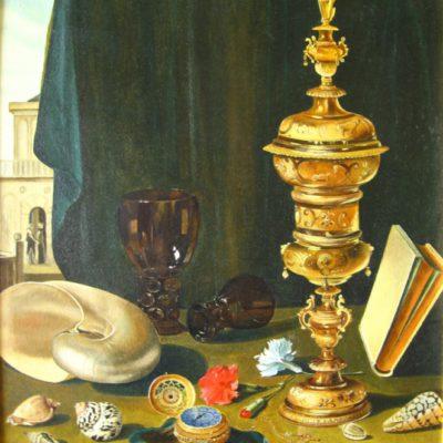 «Натюрморт с кубком», холст, масло 65х52 см, (копия с репродукции)